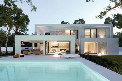 Unique, newly-built villa in Cala Llombards in...