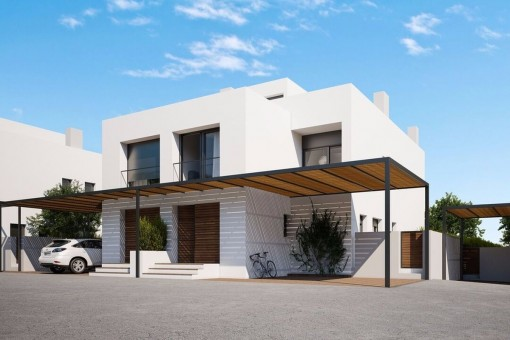 Minimalist semi-detached house on the 2nd sea line in Puig de Ros