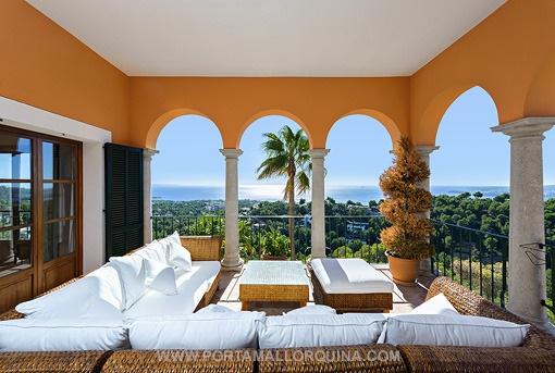 Mediterranean style villa with magnificent sea views in Costa d'en Blanes