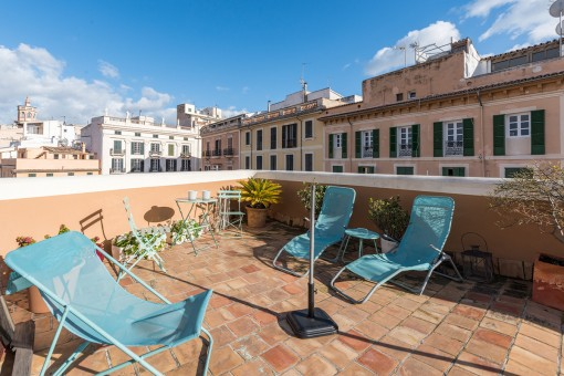 Wonderful, bright and modern apartment with roof terrace in the heart of Palma