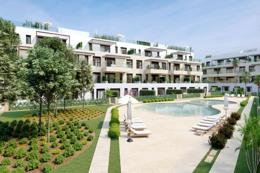 Newly-built garden apartments in a prime location in Santa Ponsa