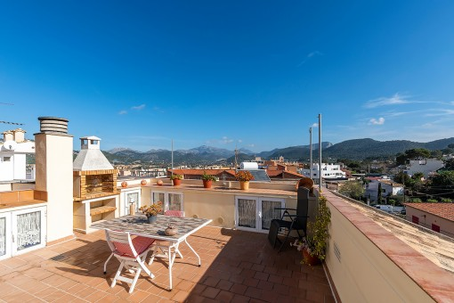 Charming apartment with roof terrace in Port d'Andratx