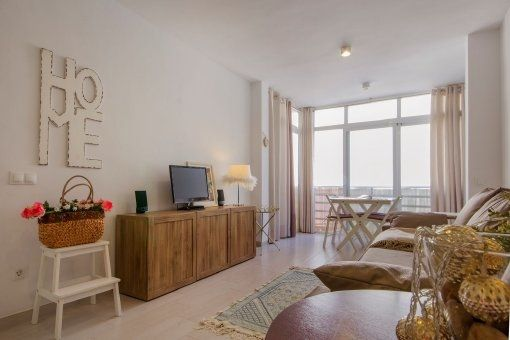 Furnished apartment, centrally situated on the harbour promenade of Pto Andratx