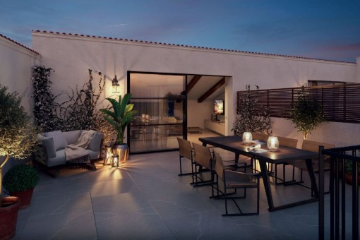 Penthouse project in a 16th century town-palace in the historical centre of Palma