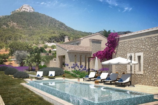 Newly built, enchanting finca with unique panoramic views in a privileged location near Portocolom